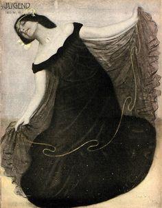 Eugen Spiro, Jugend magazine cover art, 1903.