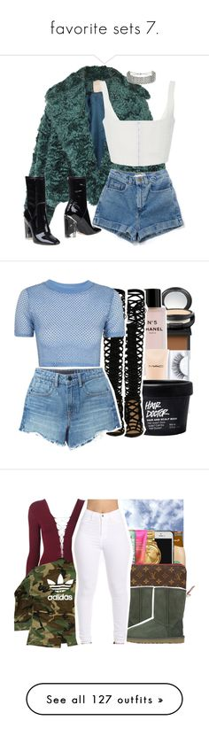 """favorite sets 7."" by trillestqueen ❤ liked on Polyvore featuring Roksanda, Christian Dior, Topshop, NARS Cosmetics, MAC Cosmetics, Chanel, Alexander Wang, UGG Australia, T By Alexander Wang and adidas"