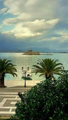 Nafplio, Greece Greece Vacation, Greece Travel, Vacation Destinations, Dream Vacations, Santorini, Myconos, Places In Greece, Greece Islands, Beautiful Places In The World
