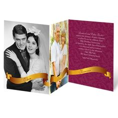 golden vows wedding anniversary invitation I chose from over 40 colors!