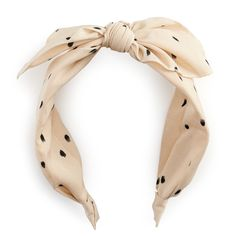 Add a fun and charming touch to your accessories collection with this polka-dot bow headband. Diy African Jewelry, Bow Pattern, Vintage Headbands, Flower Hair Accessories, Headband Styles, Kawaii Shop, Diy Hair Bows, Hair Ornaments, Diy Hairstyles