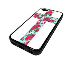 For Apple Iphone 5 or 5s Cute Phone Cases for Girls Teal Floral Rose Flowers Cross Design Cover Skin Black Rubber Silicone Teen Gift Vintage Hipster Fashion Design Art Print Cell Phone Accessories MonoThings http://www.amazon.com/dp/B00KYG89BC/ref=cm_sw_r_pi_dp_Ck6Ntb19V6YRCYJ1