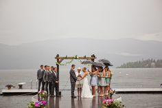 Rainy wedding...perfect in every way <3