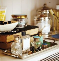 perfume tray  #makeup #storage #organizing #cosmetics