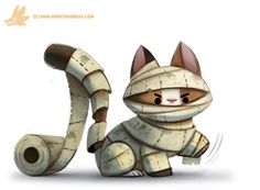 Daily Paint #1064. Mummy Cat by Cryptid-Creations Time-lapse, high-res and WIP sketches of my art available on Patreon (: