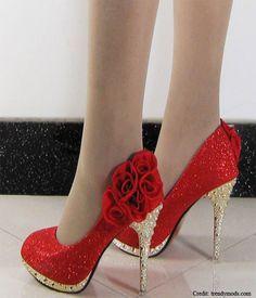 Rose style Wedding Shoes 2014
