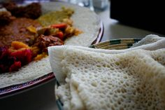 Injera recipe for serving with Ethiopian food.  Try the easy #vegan misr wot at Big Spoon Kitchen Adventures blog.