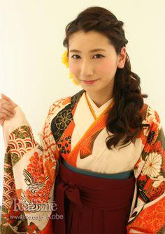 袴の着付とヘアセット http://www.b2c.co.jp/hakama/