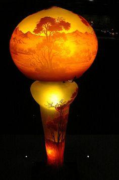 Art-Glass Floor Lamp/Light by Emile Gallé [French Art Nouveau Glassmaker, ♥≻★≺♥ Lampe Art Deco, Art Deco Lamps, Antique Lamps, Antique Art, Cristal Art, Art Nouveau Furniture, Stained Glass Lamps, Art Nouveau Design, Vases
