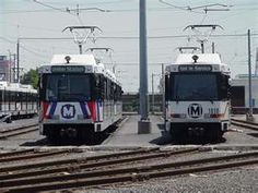 Old and New LRVs in the MetroLink Yard. STL