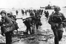 June 6, 1944: US reinforcements land on Omaha beach during the Normandy D-Day landings near Vierville sur Mer, France