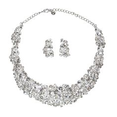 Emilia Necklace Set - in Swarovski Crystal - Bridal Jewellery - Crystal Bridal Accessories