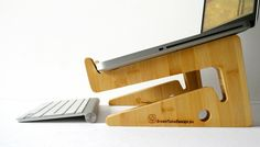 Hand crafted bamboo laptop stand! Doubles as cool looking table accessory
