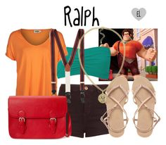 """""""Ralph -- Wreck-It Ralph"""" by evil-laugh ❤ liked on Polyvore featuring moda, Topshop, Forever 21, Twist & Tango, Brooks Brothers, ASOS, NLY Accessories, disney, ralph y WreckItRalph"""