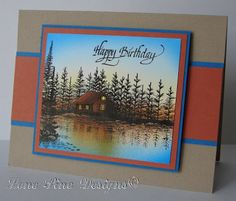 Stampscapes: Lakeside Cove, Lone Pine Designs: