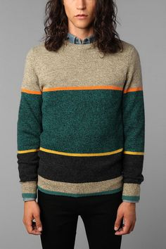 heres another one of the O'Hanlon Mills Striped Crewneck Sweaters in a different color