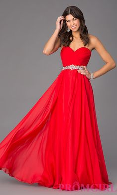 Long Strapless Sweetheart Formal Gown by Alyce style 35668