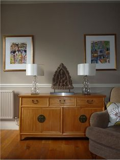 An inspirational image from Farrow and Ball, London Stone - 6 & Off-White - 3 Farrow And Ball Living Room, Farrow And Ball Paint, Farrow Ball, Interior Paint Colors, Interior Design, Paint Colours, Wall Colours, Living Room Colors, Living Room Paint