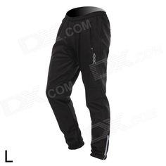 VEOBIKE Thickened Fleece Outdoor Cycling Trousers - Black (Size L)