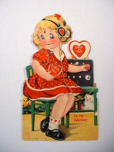 Ham Radio Sending her Love Valentine Stuff, Vintage Valentines, Valentine Day Cards, Vintage Images, Vintage Items, Antique Radio, Ham Radio, Ephemera, Postcards
