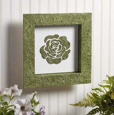 DIY Single Rose Moss Wall Art
