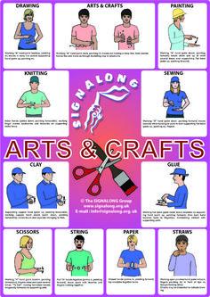 Signalong Art & Craft Poster