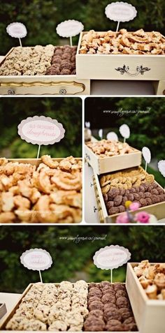 Wedding Reception Food Wedding Catering Trends: 4 Food Bar Types You Need To Try: Wedding Food Bars, Wedding Desserts, Wedding Catering, Catering Food, Catering Ideas, Wedding Ideas, Wedding Gifts, Wedding Snack Bar, Catering Recipes