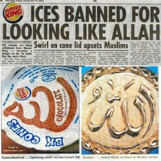 BLAST FROM THE PAST:The fast-food chain, Burger King, is withdrawing its swirly ice-cream cones after the lid of the dessert offended a Muslim. Scotsman(h/t@michellemalkin) The man claimed the ...