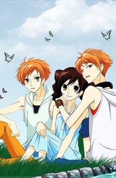 Haruhi, Hikaru, and Kaoru