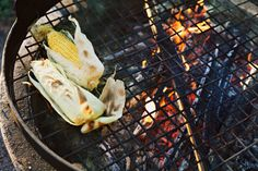 Corn on the barbecue   © Fanny Hansson / Scandinav Bildbyrå #Cooking #Barbecue #BBQ #Grill #Food #Corn #Flame #Vegetable #Yellow