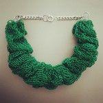 Knit necklace Collana maglia