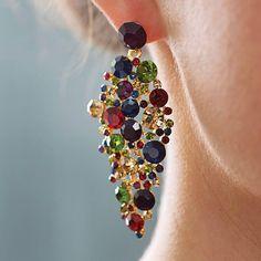jewel tone chandelier statement earrings by astrid & miyu   notonthehighstreet.com