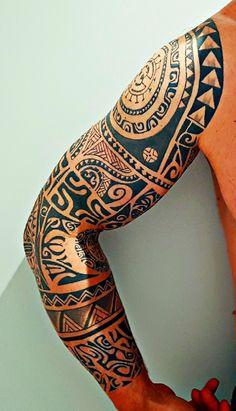 #tattoospolynesiansleeve