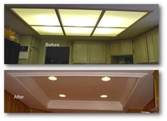 lighting for small kitchen recessed and center light - Google Search