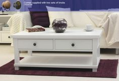 Hampton Four Drawer Coffee Table - CWR08C