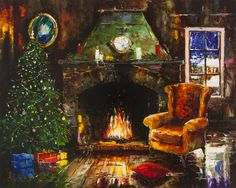 'Christmas' by Gleb Goloubetski Oil on Canvas 80cm x 100cm