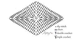 Cobertor em Crochê Estrelas Padrão Motivo -  /    Coverlet Crochet Standard Stars Motif -