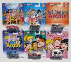 HOT WHEELS NOSTALGIA POP CULTURE ARCHIE COMICS SET OF 6 BRONCO SUPER VAN BRONCO