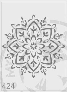 Mandala Stencil #424 4 Sizes Available: L - Image cut size is 185mm X 185mm XL - Image cut size is 285mm X 285mm XXL - Image cut size is 385mm X 385mm XXXL - Image cut size is 450mm X 450mm Other larger sizes are available, please vist www.mystencillady.com Cut from a high quality