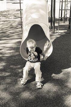 Kainen on the slide