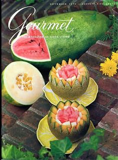 Gourmet 1975 September, Ice and Ice Cream, Kebabs, The Melon Patch, September Dinners, Compound Butters
