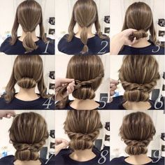 25 fast hairstyles for medium and long hair for every day. lange haare schnelle 25 fast hairstyles for medium and long hair for every day. Up Dos For Medium Hair, Medium Hair Styles, Curly Hair Styles, Natural Hair Styles, Updos For Medium Length Hair Tutorial, Medium Hair Updo Easy, Easy Updos For Long Hair, Easy Prom Hair, Hairstyle For Medium Length Hair