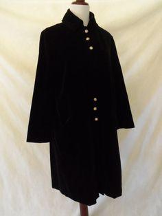 Vintage '50s Swingcoat Lou Ritchie Black by DaisyLaceVintage