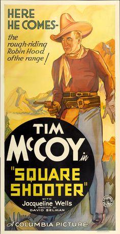 Square Shooter Vintage Film Poster, 1935 - http://retrographik.com/square-shooter-vintage-film-poster-1935/ - classic, cowboy, crime, film, movie, old, retro, vintage