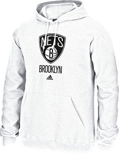 best website f35fe af4ed NBA Brooklyn Nets Mens Full Primary Logo Fleece Hoodie Medium White   Check  out this great