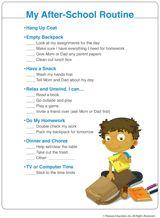 Printable After School Routine Checklist