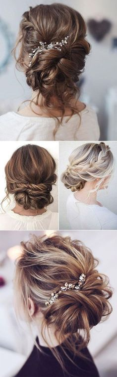 beautiful loose bridal updo hairstyle ideas #weddinghairstyles