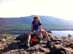 hiking a mountain with my siberian husky!