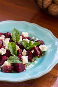 A simple Beetroot & Feta Salad that sings with Middle Eastern flavours & some stunning buffalo feta.