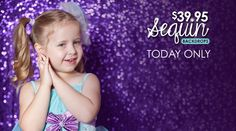 Snag one of our popular Sequin Fabric Backdrops starting at just $39.95! Today only!